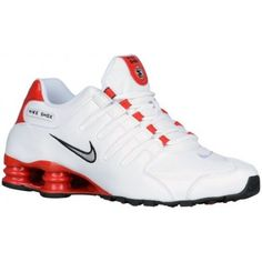 Nike Men's Shox NZ White/University Red/Black/Metallic Silver Leather Running Shoes M US - coupon voucher Black Nike Shox, Mens Nike Shox, Nike Shox Shoes, Nike Shox Nz, Nike Air Shoes, Nike Shoes Cheap, Nike Men, Nike Air Max, Zapatillas Nike Shox