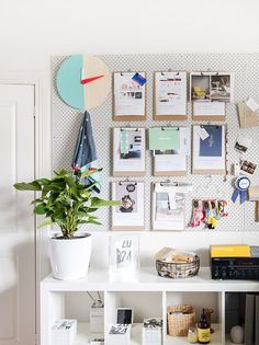 So original! Pegboard used as an inspiration board/planning tool in this workspace.