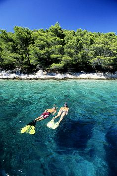 Snorkel in the clear waters of Korcula, Croatia! Places Around The World, Places To See, Oh The Places You'll Go, Around The Worlds, Montenegro, Visit Croatia, Croatia Travel, Dream Vacations, Vacation Spots