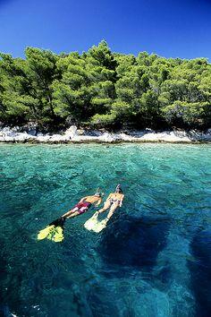 Snorkel in the clear waters of Korcula, Croatia! #explore #snorkel #croatia