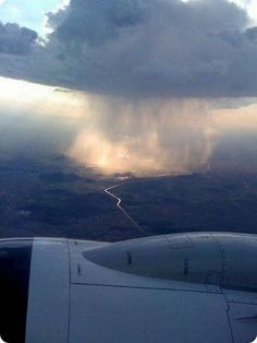 rainstorm from airplane
