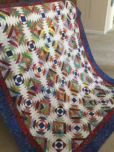 Pinapple block quilt