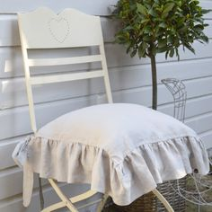 Linen Slip Covers for Dining chairs - Custom Sizes & INGOLF Chair pad - IKEA - these are the chair pads my Oma has at her ...