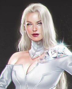 My concept version of X-men in the Marvel Cinematic universe.💎 By Lucas Werneck Emma Frost, Marvel Comics, Marvel Heroes, Captain Marvel, Marvel Women, Marvel Girls, Comic Books Art, Comic Art, Psylocke