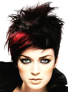 Red and Black Hair Color Ideas for Short Hair