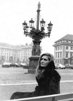 Dalida in Prague, Czech in 1977.