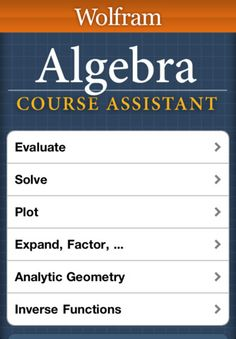 resources for algebra teachers the best of high school   taking algebra then you need the wolfram algebra course assistant this definitive app