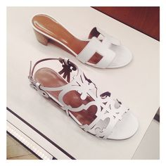 Hermes white oran and oasis sandals. 2015 summer fashion trends. womens shoes. outfit ideas. vacation style. #fashion #style