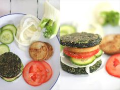 spinat burger Low Carb spinach burger