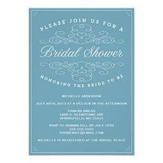 Vintage Elegance | Bridal Shower Invitation