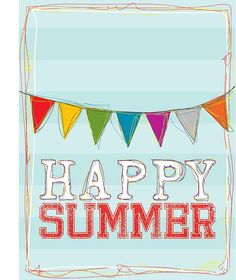 The Rubber Punkin: Happy Summer Print - free printable Summer Kids, Summer Of Love, Free Summer, Happy Summer Holidays, Summer Picnic, Pink Summer, School Holidays, Summer 2014, Project Life