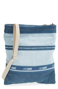 TOMS Stripe Denim Crossbody Bag available at #Nordstrom