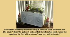 Funky Lamp made from Boom Box!