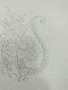 Peacock Embroidery Designs, Hand Embroidery Patterns Free, Border Embroidery Designs, Blackwork Embroidery, Embroidery Motifs, Kurti Embroidery Design, Hand Work Blouse Design, Paisley Art, Stencil Printing