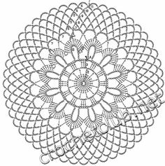 Mandala patron We are want to say thanks if you like to sh Crochet Tablecloth Pattern, Free Crochet Doily Patterns, Crochet Circles, Crochet Motifs, Crochet Diagram, Crochet Chart, Crochet Dollies, Crochet Diy, Crochet Round