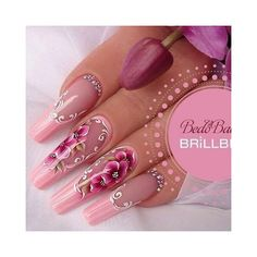 French tip nails are chic, delicate and gorgeous. It is a classic nail art design type, in recent years it has become the trend of nail art design. The history of French tip nails was first used by French models to make them look clean and beautiful. Glam Nails, Hot Nails, Fancy Nails, Bling Nails, Beauty Nails, Hair And Nails, Fabulous Nails, Perfect Nails, Gorgeous Nails
