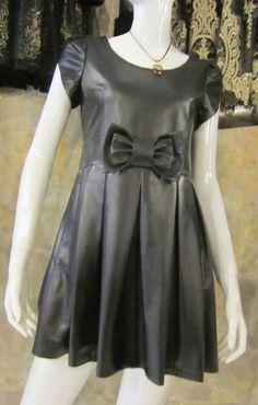 Bow Valentine Leather Dress - # 767 : Makeyourownjeans.com, Custom Jeans | Designer Jeans