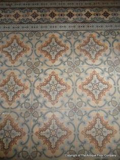 16.5m2+ / 177 sq ft - Antique French Art Nouveau ceramic floor c.1900 - The Antique Floor Company
