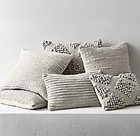 Textured Merino Wool Pillow Cover - Grey - love all the texture Pillow Texture, Bed Linen Design, Wool Pillows, Bed Linens Luxury, Grey Linen Bedding, Pillow Collection, Neutral Bed Linen, Beautiful Bedding, Pillow Covers