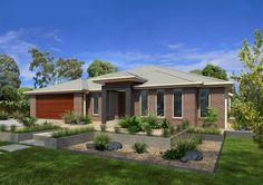 GJ Gardner Home Designs: Ferrara 324 Facade Option. Visit www.localbuilders.com.au/builders_victoria.htm to find your ideal home design in Victoria