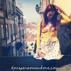 #sunny #day in #lisbon, #portugal. #perfect day to #wear a #dress. #yellow #doceparaomeudoce