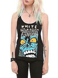 HOTTOPIC.COM - White Zombie Face Girls Tank Top