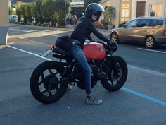cafe racer girl - BMW R80