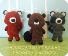 Forrest Friends Crochet Pattern Set  pattern on Craftsy.com $5
