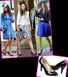 Get Kate Middleton's Style: Black Pumps