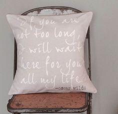 Matrimonio regalo cuscino coprire cotone di JolieMarche su Etsy