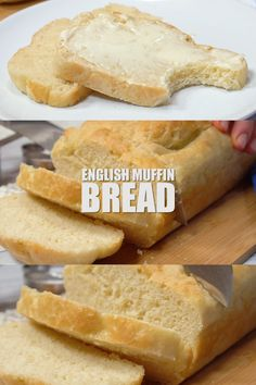 The most delicious English Muffin Bread! Makes the best toast! The most delicious English Muffin Bread! Makes the best toast! Bread Machine Recipes, Easy Bread Recipes, Baking Recipes, Cake Recipes, Dessert Recipes, Quick Bread, Bread Machine Cornbread Recipe, No Egg Bread Recipe, Cooking