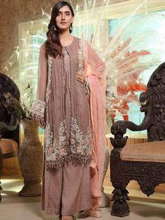 Stuff Embroidered Crinkle Chiffon Front 1 M Crinkle Chiffon Back 1 M Embroidered Neckline Patch 1 Pc Embroidered Patch For Back Daman 1 M Crinkle Chiffon Sleeves M Sleevs Embroidered Patch 1 M Embroidered Crinkle Chiffon Dupatta M Dyed Silk Trouser M Pakistani Designer Suits, Pakistani Salwar Kameez, Pakistani Bridal Wear, Chiffon Material, 3 Piece Suits, Wedding Suits, Designer Wear, Indian Fashion, Bridal Dresses