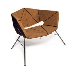 Cork Chair - Toni Grilo, Designer: Portugal is the biggest cork producer in the world. You can find it from bottle plugs to thermic isolation on the space shuttle but can it be used in high end design products? Yes it can. Check out other products of this designer by googling his name.