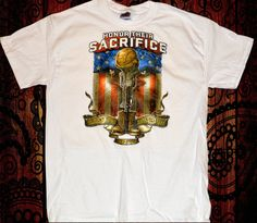 Honor Their Sacrifice Army Navy Air Force Marines War Casualities Veterans Military T-Shirt Mens Womens S-2XL Traditional Values Tees by TimeofReason on Etsy