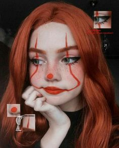 Edgy Makeup, Eye Makeup Art, Clown Makeup, Crazy Makeup, Cute Makeup, Pretty Makeup, Makeup Eyes, Joker Makeup, Helloween Make Up