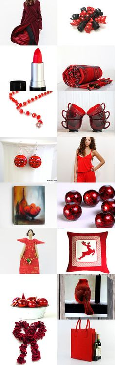 A jewelry by NaLa Etsy treasury ... https://www.etsy.com/treasury/NzQ0NzM5M3wyNzI1MjQxNTQ0/winter-holiday #red #Christmas #holidays #presents #gifts #home #fashion #jewelry