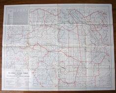 Vintage Map Rio Grande National Forest Colorado 1951 Us Forest Service Large