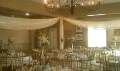 Wedding Reception Set up with draping #CCRwedding #countryclubreceptions