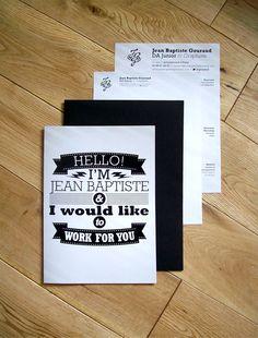 resume, cover letter, brochure