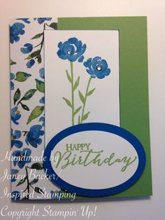 Inspired Stamping by Janey Backer Painted Petals