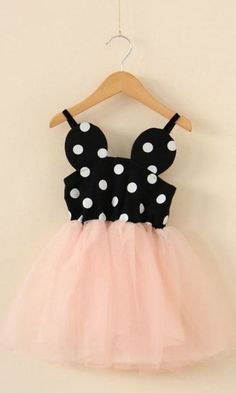 Minnie Dress Mouse Dot Pink Tulle: