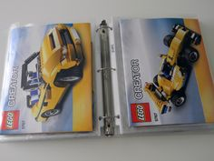 organize lego instructions