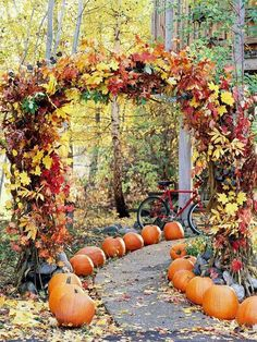 Wedding Ceremony Decoration Ideas with 50 Stunning Wedding Aisles Outdoor Halloween, Fall Halloween, Halloween Pumpkins, Halloween Ideas, Rustic Halloween, Halloween Porch, Halloween Horror, Halloween Crafts, Happy Halloween
