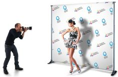 Digitally printed canvas backdrops - throw your own 'red carpet' event and take pics of your guests! Very fun.