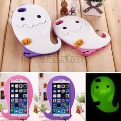 """Cute 3D Luminous Ghost Pumpkins Silicone Case Cover For Iphone 6 6 Plus SP21"" creepy cute pastel goth"