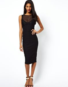 Asos ASOSSexy Bra Pencil Dress