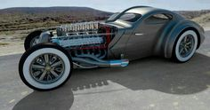 Futuristic art-deco rat rod