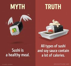 15 Myths About a Healthy Diet You Need to Stop Believing Chile, Types Of Sushi, Interesting Facts About World, Amazing Facts, Curious Facts, Wow Facts, Intresting Facts, Shocking Facts, Psychology Facts