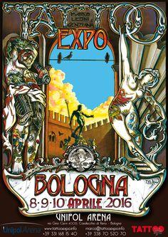 Tattoo Expo Bologna 8 9 10 aprile 2016 Convention dedicata totalmente al tatuaggio - 250 tatuatori professionisti provenienti di ogni parte del mondo