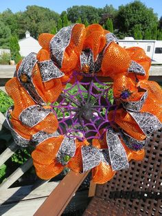 Add a friendly wreath to your front door to welcome Trick or Treaters and welcome in the season.
